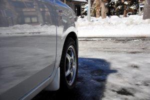 雪道の画像