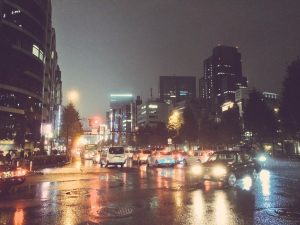 梅雨のドライブ